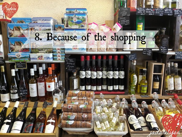 Because of the shopping in Annecy - go and visit