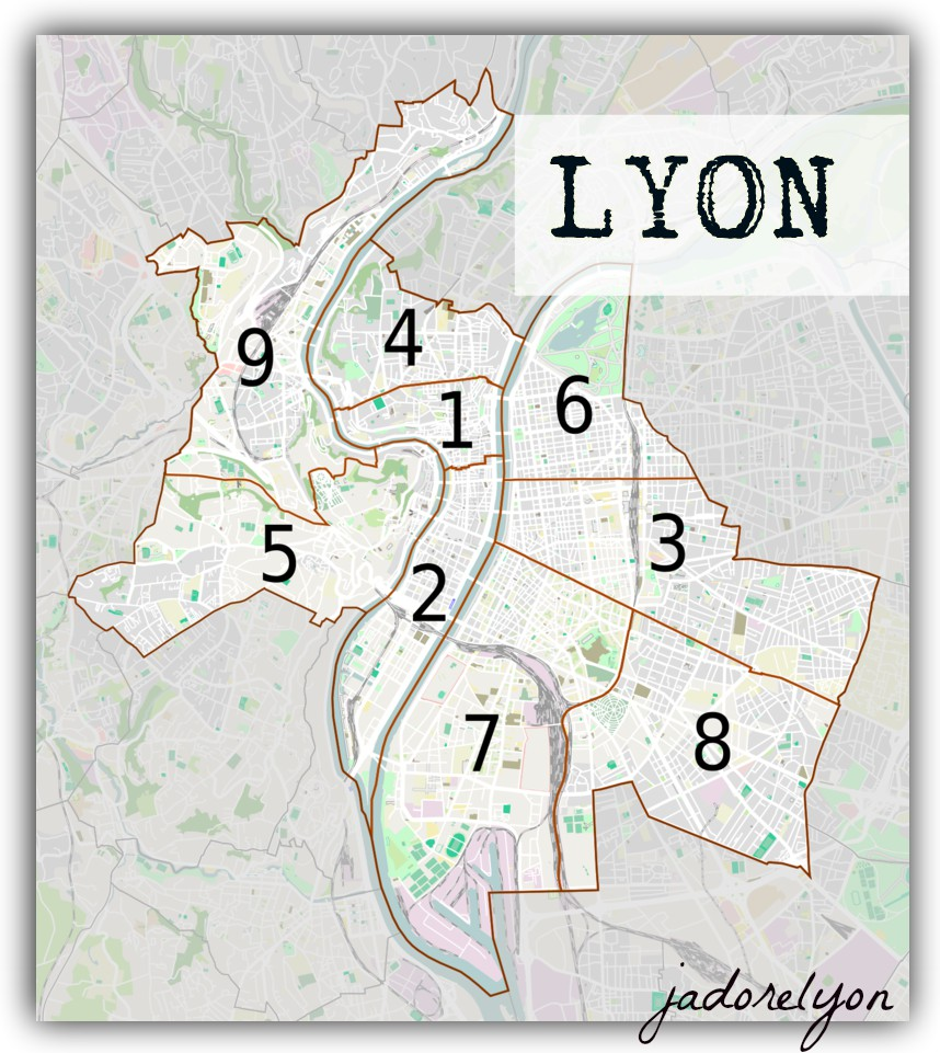 Lyon and its arrondissements