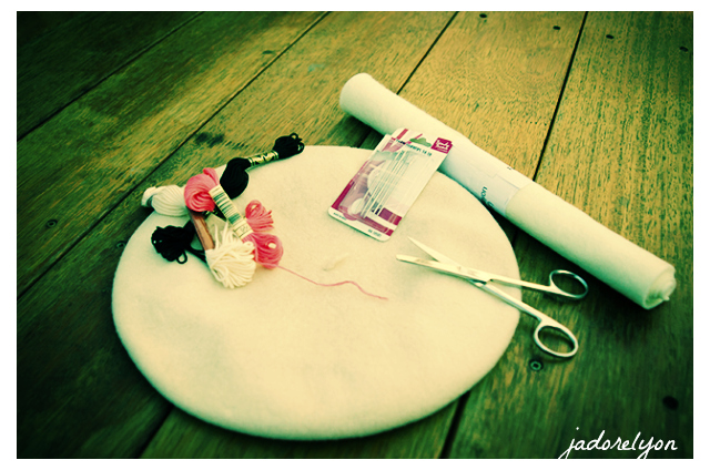 Beret sewing