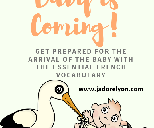 your baby is coming, get prepared zith the essential french vocabulary
