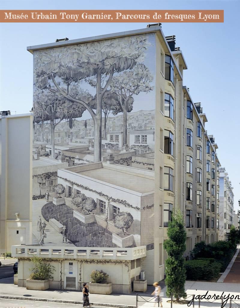 Musée Urbain Tony Garnier , Parcours de fresques LYON