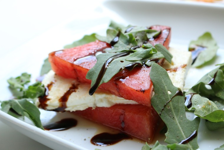 Watermelon and cheese grilled and yummy. Photo by pixabay.com