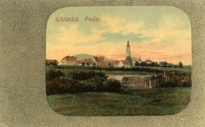 Плашки у време Аустро-Угарске, 1908. г. Поглед на саборну цркву Ваведења пресвете Богородице и владичански двор