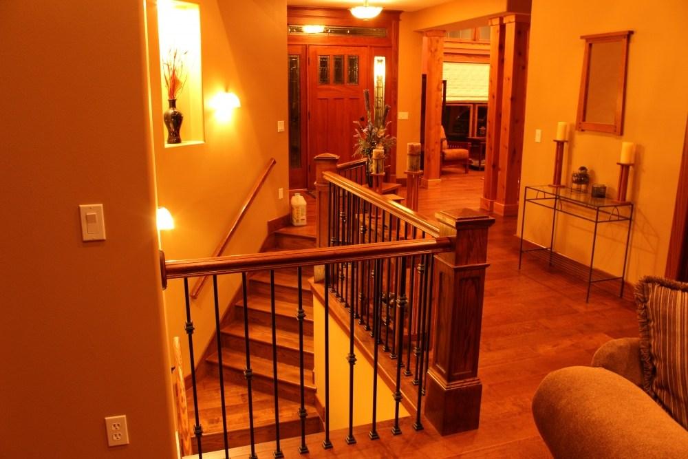 Red Oak Box Newels And Custom Red Oak Stair Treads | Custom Oak Stair Treads