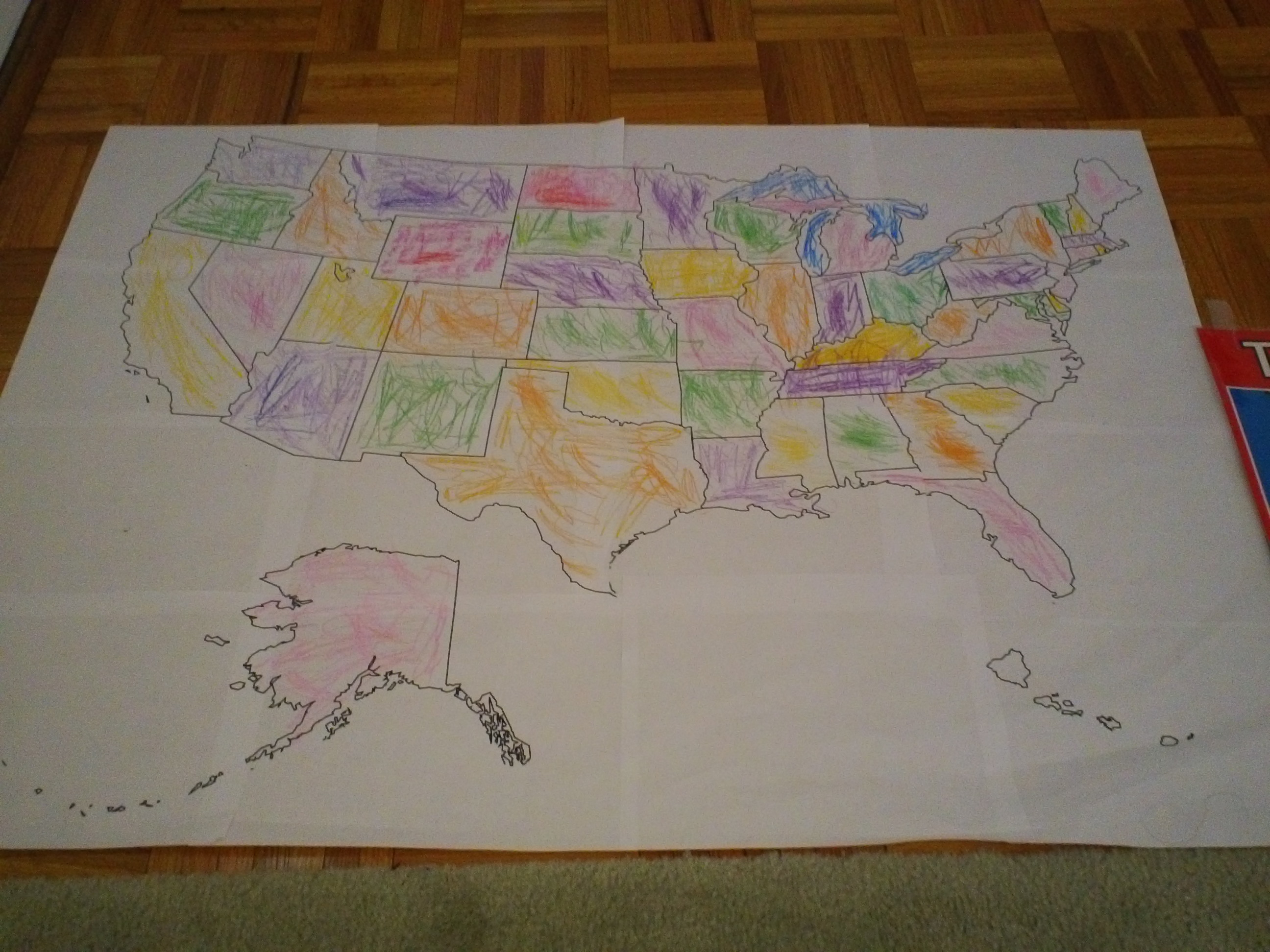 Toddler USA Map Activities Jady A