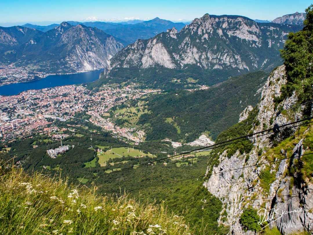 widok na Lecco z Piani d'Erna