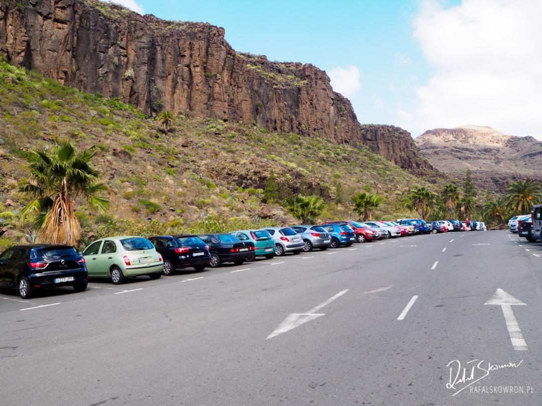 Parking przed Palmitos Park