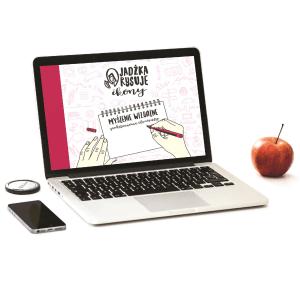 E-book Jadźka Rysuje ikony na ekranie laptopa