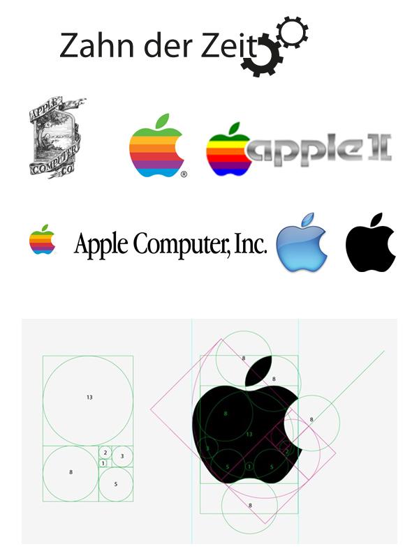 Entwicklung des Apple Logos