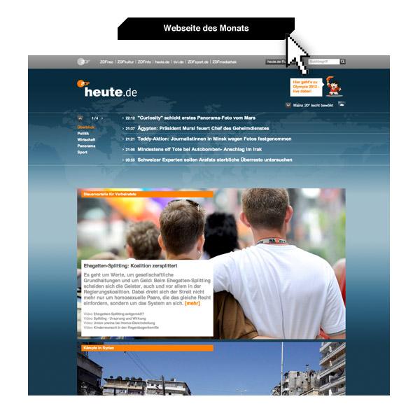 Webseite des Monats: www.heute.de