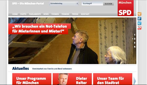 Facebook Seite der SPD