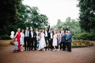 Die komplette Familie auf einem Foto