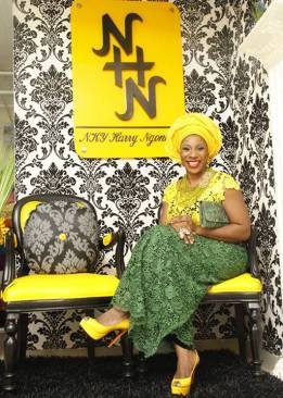 Yellow and Green Asoebi Style- NHNcouture-Makeup and Gele by Jagabeauty