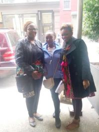 with fellow Nigerian Makeup Artists. Gifty's Daughter and Roli from Abuja) met them at the show