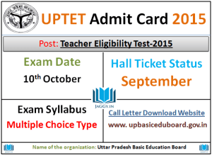 UPTET Admit Card 2015