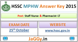 HSSC Staff Nurse Answer key 2015