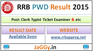 RRB PWD Result 2015-16
