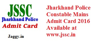 jharkhand police constable Admit Card 2015