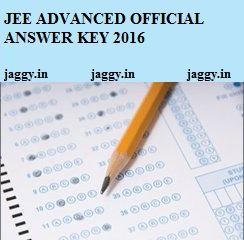 JEE Official Answer Key 2016