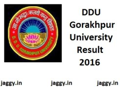 DDU Gorakhpur University Result 2016