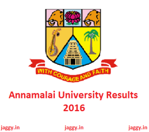 Annamalai University Results 2016