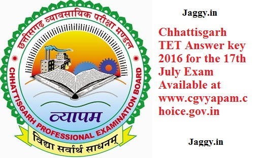 CGVYAPAM TET Answer Key