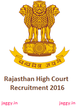 Rajasthan High Court Recruitment 2016