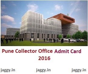 Pune Collector Office Admit Card 2016