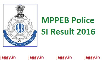 MPPEB Police SI Result 2016