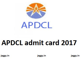 APDCL admit card 2017