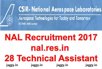 NAL Recruitment 2017
