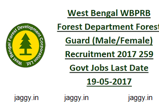 WB Forest Department Recruitment 2017