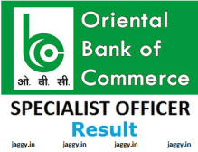 OBC SO Result 2017