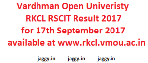 RKCL RSCIT Result 2017