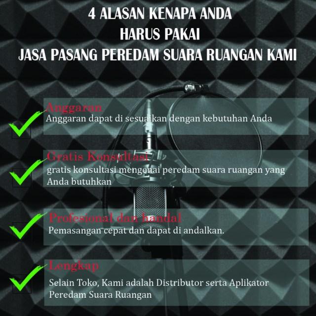 Hub Kami : 081 259 851 001  Kontraktor Peredam Suara Ruang Ruang Akustik di Daerah  Susukan, Jakarta Timur -  Jurangmangu Timur,  Kota Tangerang Selatan