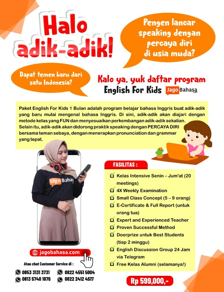 Paket Jago Speaking English For Kids