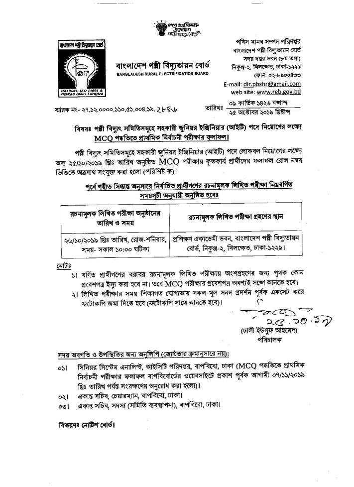 BREB Assistant IT Engineer Result