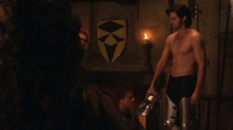 Guy of Gisborne half nude