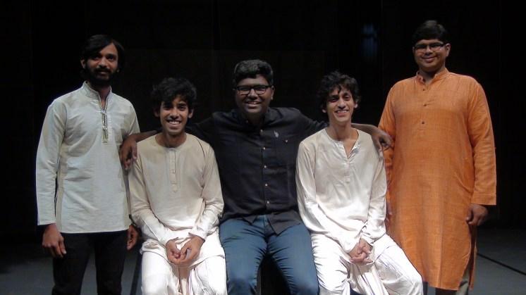 From (L - R) Baradwaj Raman (Veena), Uchit Nair, Dushyanth Gunashekar, Vaishwath Shankar & Vishwa Bharath (Percussion)