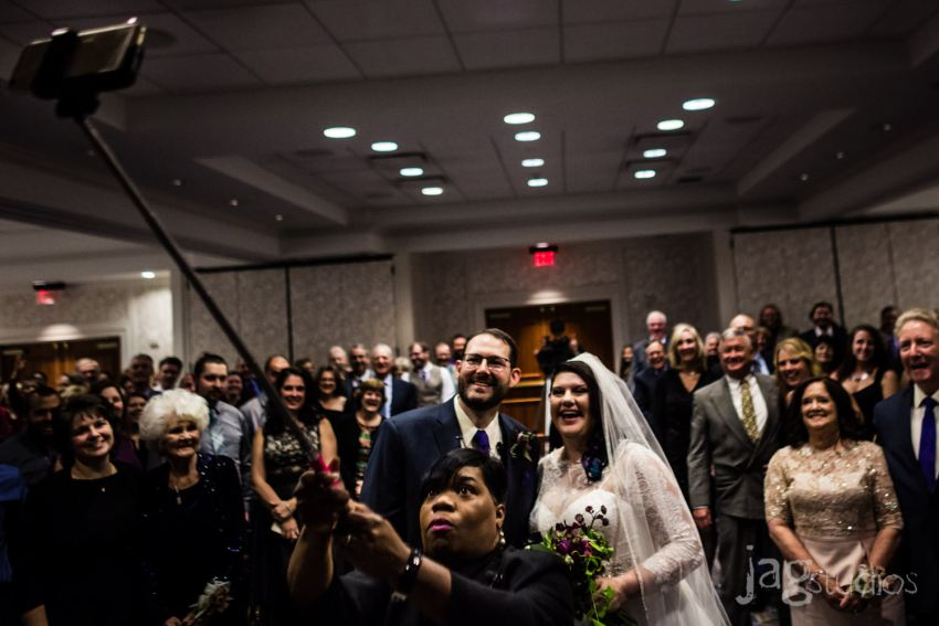 alternative science center wedding