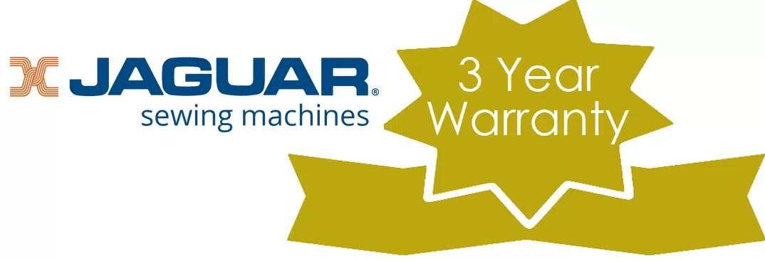 Jaguar Sewing Machines warranty