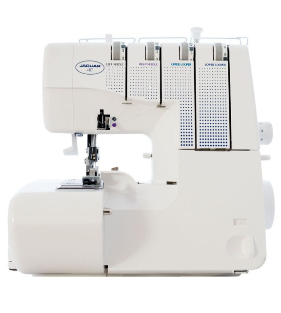 Jaguar Overlocker Sewing Machines model 487 white