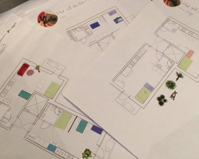 Skisser över planlösningar
