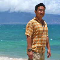Carl Yoshihara on the beach