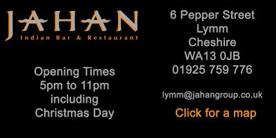 Lymm Indian Restaurant Address Box