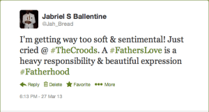 The Croods: Fatherhood Tweet