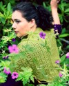 Rosemarie's Garden Shawl in the shawlette size. Photo by Grace Photography