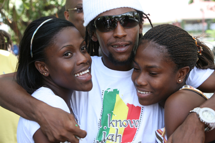 Jah Cure with his Sisters