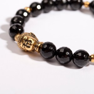 Buddha Armband schwarz