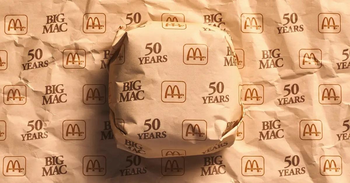 McDonald's ressort tous les anciens packaging pour les 50 ans Big Mac